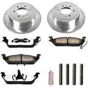 K1950-36 Powerstop Brake Disc And Pad Kits 2-wheel Set Rear New For F150 Truck