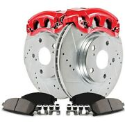 Kc6073 Powerstop Brake Disc And Caliper Kits 2-wheel Set Front For 328i Xdrive