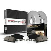 Crk408 Powerstop Brake Disc And Pad Kits 2-wheel Set Rear New For Civic Coupe