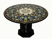 36 Marble Coffee Table Inlay Pietra Dura Art Handmade Work With Marble Stand