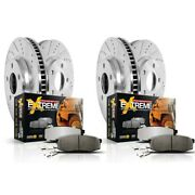 K15038dk-36 Powerstop Brake Disc And Drum Kits 4-wheel Set Front And Rear New