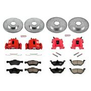 Kc4024 Powerstop 4-wheel Set Brake Disc And Caliper Kits Front And Rear For Escape