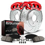 Kc1526f Powerstop 2-wheel Set Brake Disc And Caliper Kits Rear New For Olds