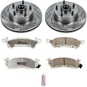 K2579-26 Powerstop 2-wheel Set Brake Disc And Pad Kits Front New For Chevy Olds