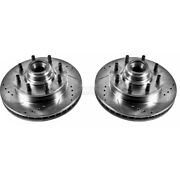 Ar8627xpr Powerstop 2-wheel Set Brake Discs Front Driver And Passenger Side New