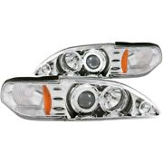 121039 Anzo Headlight Lamp Driver And Passenger Side New Lh Rh For Ford Mustang