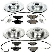K2883 Powerstop Brake Disc And Pad Kits 4-wheel Set Front And Rear New For 335xi