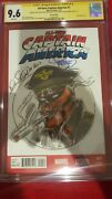 New Captain America 1 Cgc 9.6 Ss Steranko And Allen Bellman With Sketch Red Skull