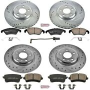K5754 Powerstop Brake Disc And Pad Kits 4-wheel Set Front And Rear New For Audi A4