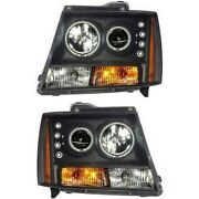 111109 Anzo Headlight Lamp Driver And Passenger Side New For Chevy Suburban Lh Rh