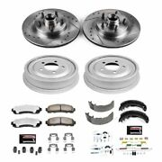K15009dk-36 Powerstop Brake Disc And Drum Kits 4-wheel Set Front And Rear New