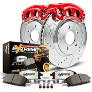Kc5585-36 Powerstop 2-wheel Set Brake Disc And Caliper Kits Front For F250 Truck