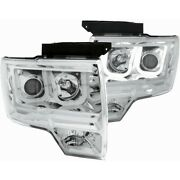 111264 Anzo Headlight Lamp Driver And Passenger Side New For F150 Truck Lh Rh Ford