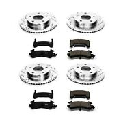 K2847 Powerstop 4-wheel Set Brake Disc And Pad Kits Front And Rear New For Olds