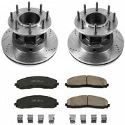 K6823 Powerstop Brake Disc And Pad Kits 2-wheel Set Front New For F350 Truck