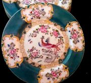 Antique Minton Set Of 4 Plates Cockatice Pattern Design 4910 Collectible England