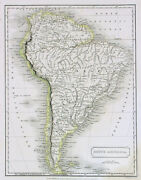 1822 Sydneey Hall Antique Map Of The West Indies, Florida, Cuba, Antilles