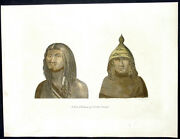1798 Henry Moores Antique Print Of Man And Woman Of Nootka Sound Vancouver Canada