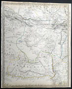 1835 Sduk Old Antique Large Map Of Pakistan Afghanistan Parts Of Iran And India