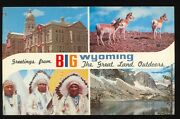 Indian Greetings From Wyoming The Great Land Outdoors Unusedindiansa489
