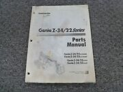 Genie Z34/22 Gas Lpg Diesel 2wd And 4wd Boom Lift Parts Catalog Manual