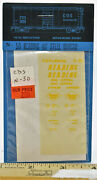 N Scale Cds Reading 40and039 Steel Box Car Yellow Lettering Dry Transfers N-50
