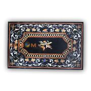 4and039x3and039 Bird Marquetry Italian Fine Arts Marble Dining Table Top Inlay Decor B368