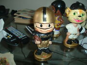 1962 Bobble Head Nodder Pittsburgh Steelers Gold Base Toes Up Football Nice