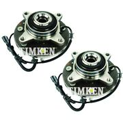 Set-tmsp550213 Timken Wheel Hubs Set Of 2 Front Driver And Passenger Side New Pair