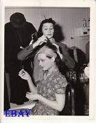 Ruth Hussey Hair Is Worked On By Gertrude Kuhn Candid On Et Vintage Photo