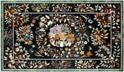 36and039and039x54and039and039 Marble Dining Table Top Marquetry Floral Inlay Study Room Decor B056