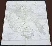 1751 D Anville Large Antique Map Of West Asia - Saudi Arabia Persia And India