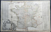 1720 Herman Moll Large Antique Pre Revolutionary Map Of France In Provinces