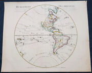 1720 Guillaume Delisle Large Antique Map Of America, New Zealand, Pacific Ocean