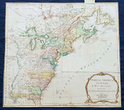 1775 Thomas Jefferys Antique Map North America And Colonial States, Pre Revolution