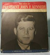 John F. Kennedy Memorial Record The Voice Of The President Speech 45 Rpm Vintage