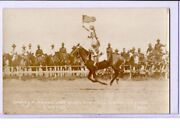Real Photo Postcard Rppc - Rodeo Cowgirl 9 Year Old Daisey Parsons Cheyenne Wy