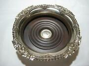 Vintage Silverplate Wine Coaster Shell And Gadroon Silver Plate Corbell And Co.