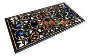 26and039and039x52and039and039 Fine Marquetry Floral Marble Dining Table Top Conference Decorate B261
