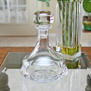 Vintage Signed Kosta Boda Clear 9 X 6 Crystal Art Glass Decanter And Stopper