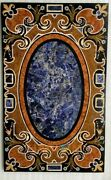 28and039and039x55and039and039 Black Marble Dining Table Top Mosaic Multi Inlaid Hallway Decor B307