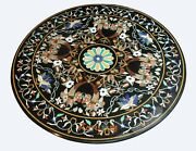 42and039and039 Scagliola Marble Dining Table Top Handmade Inlaid Home Interior Decor B358
