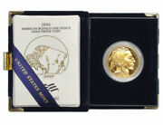 Superb 2006-w 1 Oz Proof Gold Buffalo Coin In Original Box And Certificate