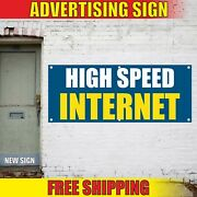 High Speed Internet Banner Advertising Vinyl Sign Flag Wi-fi Zone Area Cafe Open