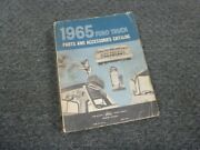 1965 Ford P600 P3500 Parcel Delivery Chassis Parts And Accessories Catalog Manual