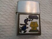 Vintage Sun Pearl Military Lighter Snoopy F@@k You Red Baron On Front