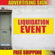 Liquidation Event Banner Advertising Vinyl Sign Flag Auction Sale Clearance Must