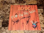 Ac/dc Angus Young Cliff Williams Simon Wright Signed Fly On The Wall Record Rare
