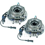 Set-tmsp940204 Timken Set Of 2 Wheel Hubs Front Driver And Passenger Side New Pair