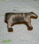 Cow Wooden Primitive Farmhouse Country Home Decor Wall Hanging Animal Barn Ranch